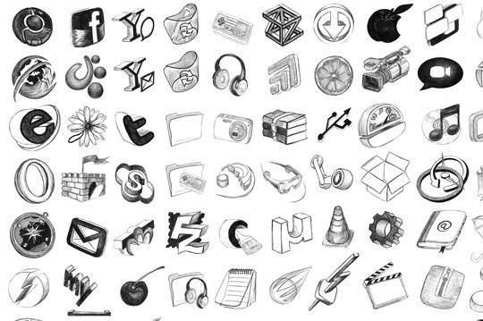 17 Free Awesome Hand-Drawn Icon Sets 10