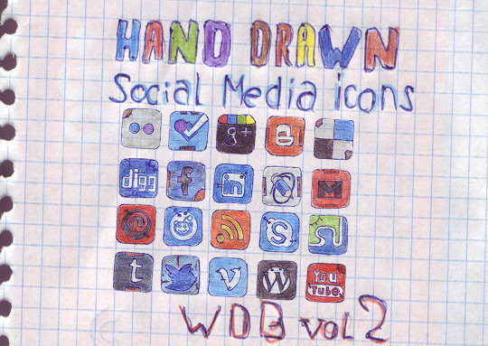 17 Free Awesome Hand-Drawn Icon Sets 2