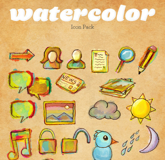 17 Free Awesome Hand-Drawn Icon Sets 12