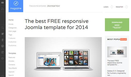 13 Best Free Bootstrap Joomla Themes 9
