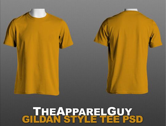 13 Free PSD T-Shirt Templates 9