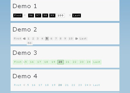 Collection Of Free CSS3, jQuery Pagination Plugins 16