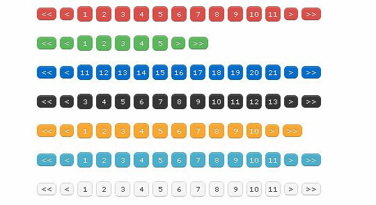 Collection Of Free CSS3, jQuery Pagination Plugins 24