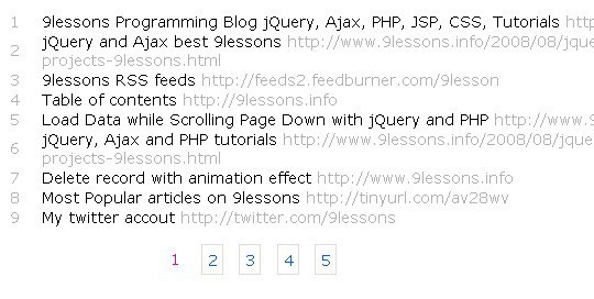 Collection Of Free CSS3, jQuery Pagination Plugins 9