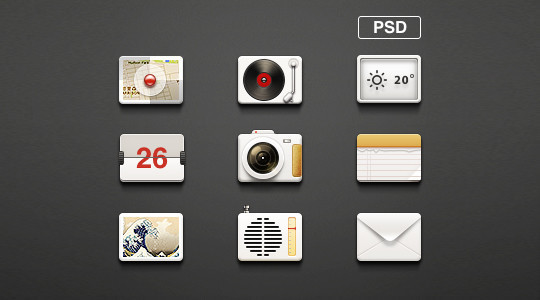 Free And Fresh Icons In PSD For Web Designers 3