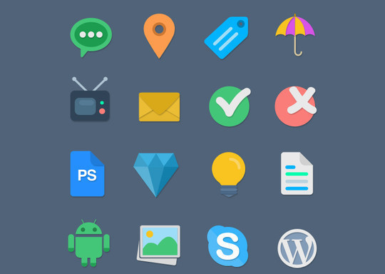 Free And Fresh Icons In PSD For Web Designers 16