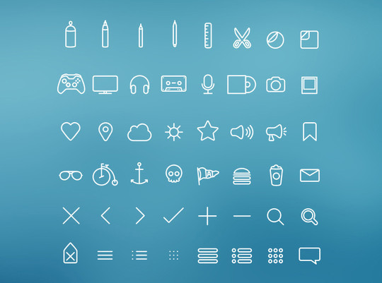 Free And Fresh Icons In PSD For Web Designers 17