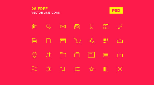 Free And Fresh Icons In PSD For Web Designers 10