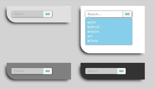 Free Collection Of HTML5, CSS3 & jQuery Search Forms 12