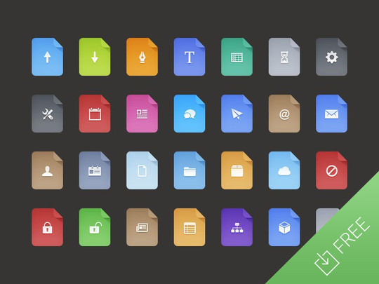 12 Best Free Flat Icons PSD 11
