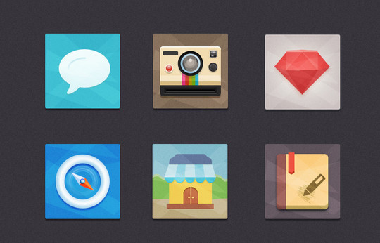 12 Best Free Flat Icons PSD 2