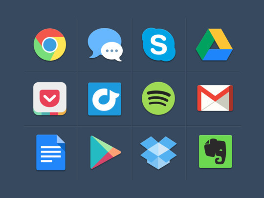12 Best Free Flat Icons PSD 6