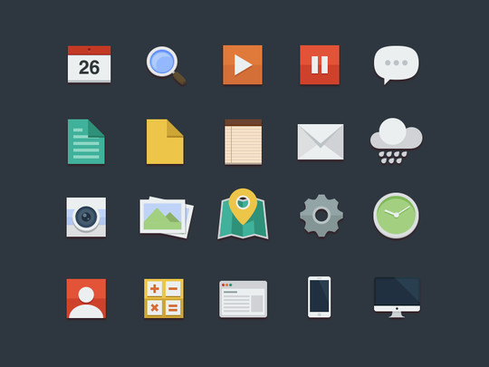 12 Best Free Flat Icons PSD 7