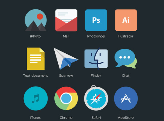 12 Best Free Flat Icons PSD 9