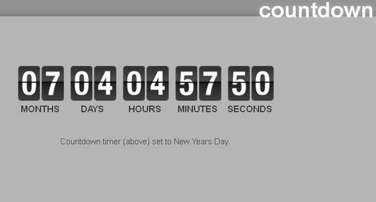15 Awesome jQuery Countdown Timers 2