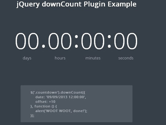 15 Awesome jQuery Countdown Timers 11