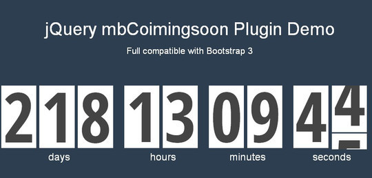 15 Awesome jQuery Countdown Timers 14