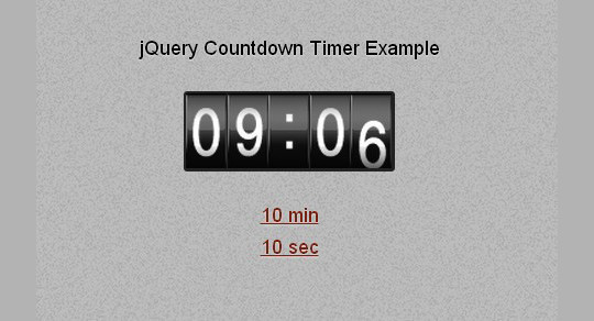 15 Awesome jQuery Countdown Timers 8