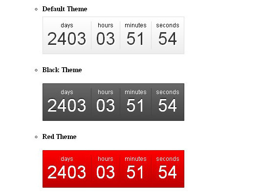 15 Awesome jQuery Countdown Timers 10