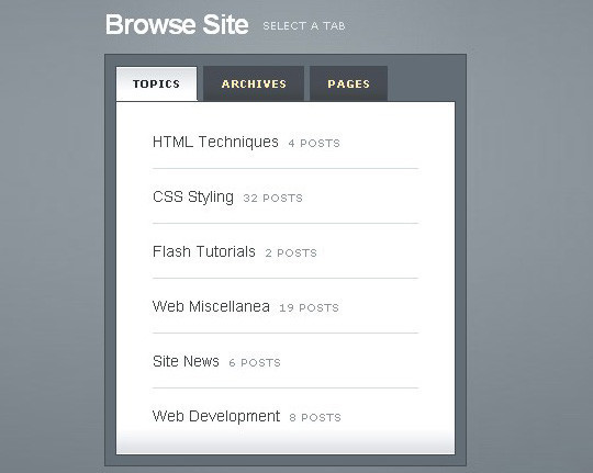 11 Free CSS & jQuery Tabs Plugin And Tutorials 264