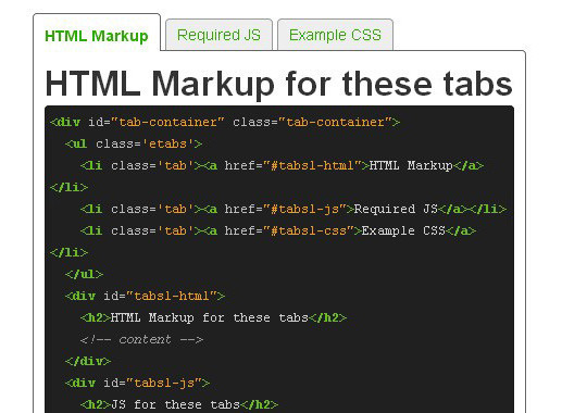 11 Free CSS & jQuery Tabs Plugin And Tutorials 6