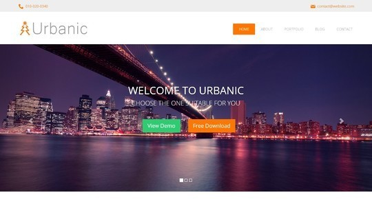 40 Fresh Yet Free HTML5 And CSS3 Templates 22
