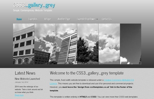 40 Fresh Yet Free HTML5 And CSS3 Templates 36