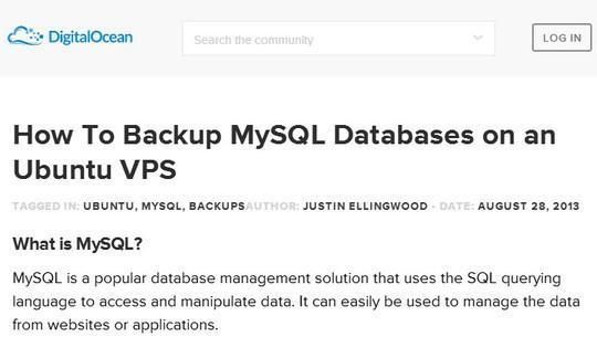 How To Backup MySQL Databases on an Ubuntu VPS
