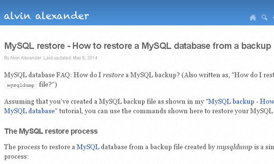MySQL Restore - How To Restore a MySQL Database From a Backup
