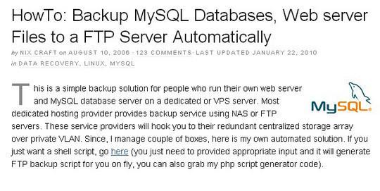 10 Tutorials To Take MySQL Database Backup 6