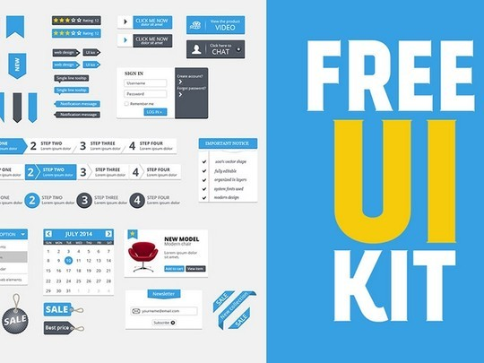 30 Really Useful Yet Free UI Design Kits 15