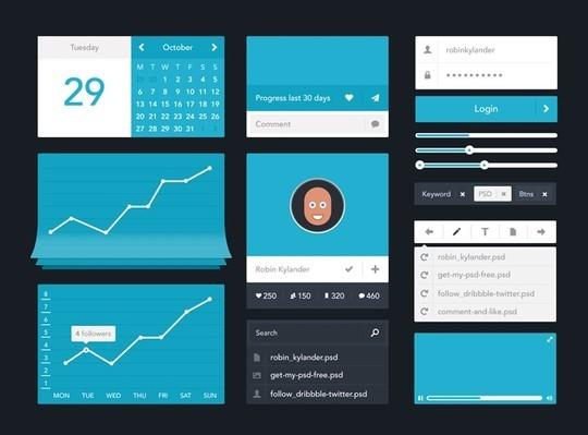 30 Really Useful Yet Free UI Design Kits 17