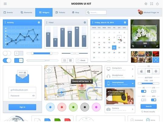 30 Really Useful Yet Free UI Design Kits 18