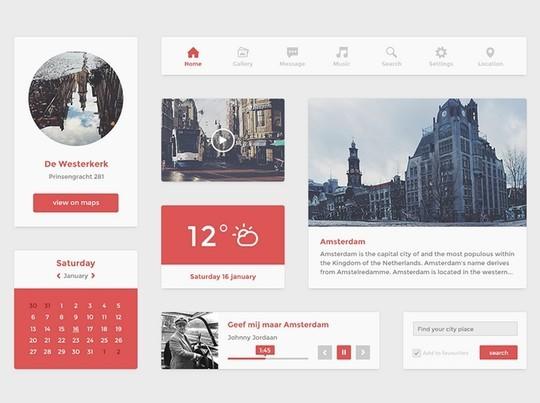 30 Really Useful Yet Free UI Design Kits 20