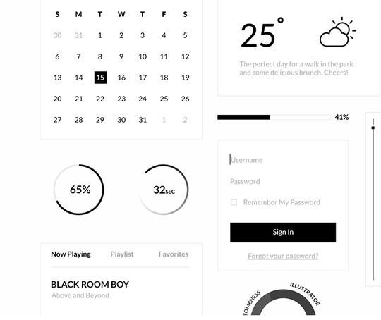 30 Really Useful Yet Free UI Design Kits 3
