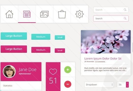 30 Really Useful Yet Free UI Design Kits 22