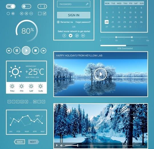 30 Really Useful Yet Free UI Design Kits 25
