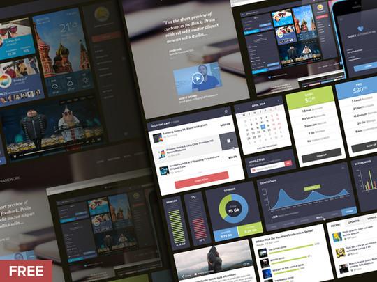 30 Really Useful Yet Free UI Design Kits 4