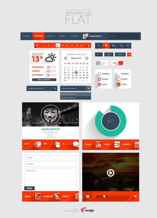 30 Really Useful Yet Free UI Design Kits 31