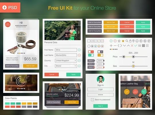 30 Really Useful Yet Free UI Design Kits 8