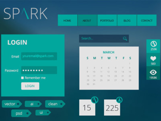 38 Free Web, Mobile UI Kits And Wireframe Templates 11