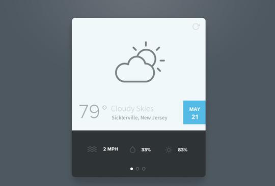 13 Free Weather Widget PSD Files 2