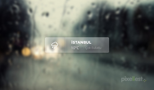 13 Free Weather Widget PSD Files 11
