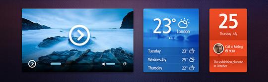 13 Free Weather Widget PSD Files 12