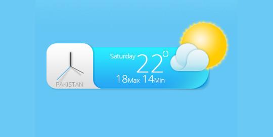 13 Free Weather Widget PSD Files 3