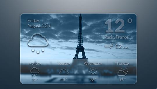 13 Free Weather Widget PSD Files 5