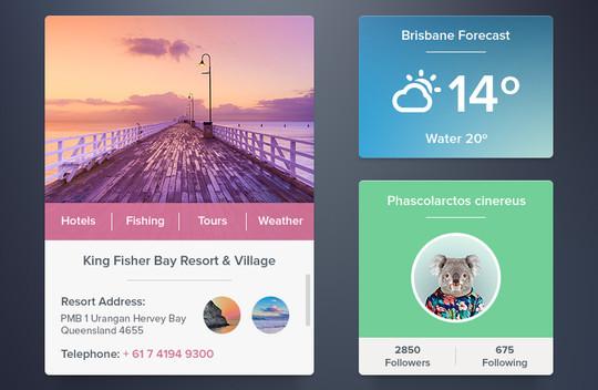13 Free Weather Widget PSD Files 7