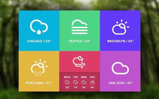 13 Free Weather Widget PSD Files 9