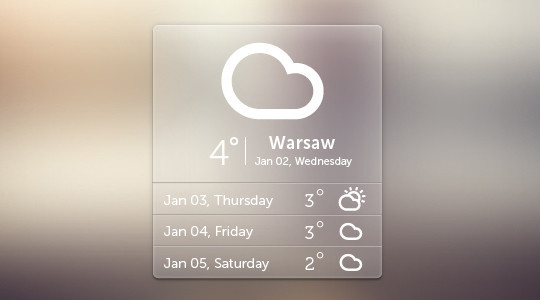 13 Free Weather Widget PSD Files 10