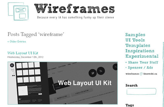 13 Sites For Free Wireframing Tools And Examples 4